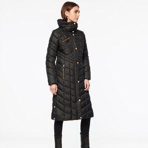 Marc New York Merlette Chevron Long Puffer Jacket